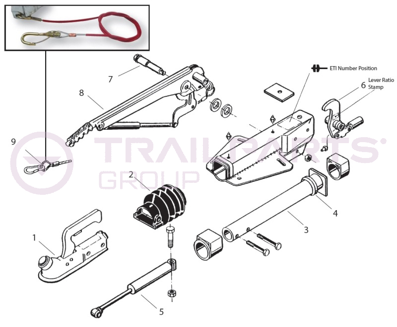 AL-KO Kober 161S Delta A-Frame Coupling Spares (for ETI