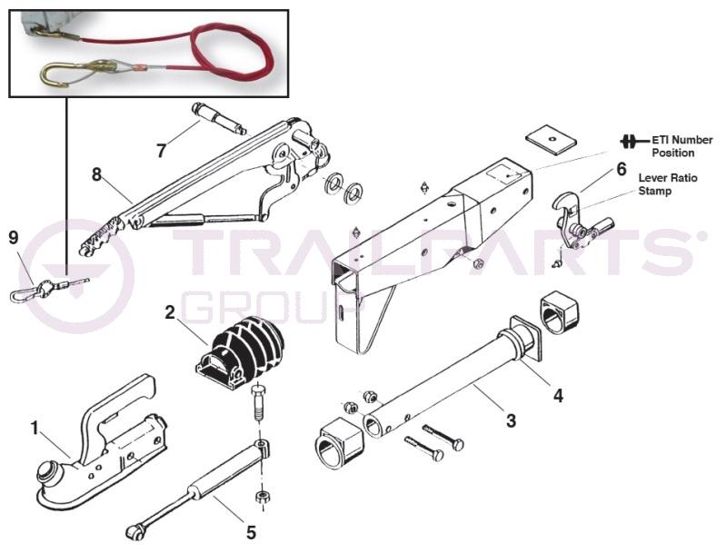 al-ko kober 90s  3 square tube coupling spares  for eti 811062  home