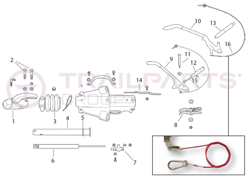 Knott-Avonride KFG30/AC20 M12/M14 Cast Delta A-Frame Coupling Spares ...