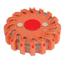 Magnetic LED warning strobe battery operated red 120mm