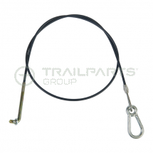 BPW breakaway cable for delta couplings c/w handbrake button