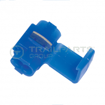 Blue wire connector for 0.65 - 2mm sq cable