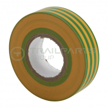 Electrical insulation tape green/yellow 19mm x 20m