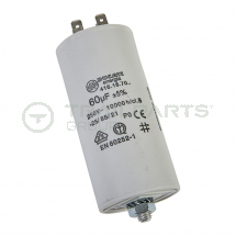 Capacitor 60uF 250V with spade terminals