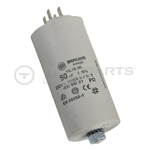 Capacitor 50uF 250V with spade terminals
