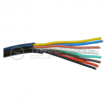 Cable 8 core black 8A (1 x 1.5mm and 7 x 0.65mm)