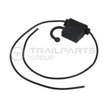 In-line splashproof blade fuse holder with 1.5mm cable tails