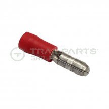 Bullet connectors red male 4mm (x 100)*