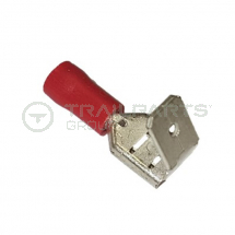 Red push-on piggy-back 6.3mm connectors (x 100)