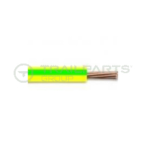 Cable single core 6mm earth green/yellow 50m type 6491X