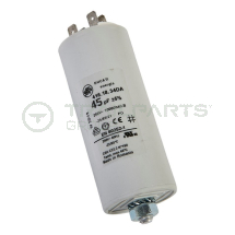 Capacitor 45uF 250V with spade terminals