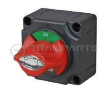 Battery isolator switch 300A with red control knob