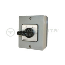 240V Salzer 0-1-2-3 isolator switch IP66 - 4 Position
