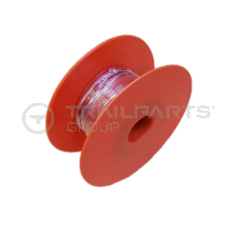 Red single core cable x 1mm (50m roll)