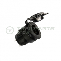 Circular DIN power socket 28mm hole 12V 20A