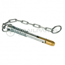 Sword pin 90 x 13mm with 25mm keyring