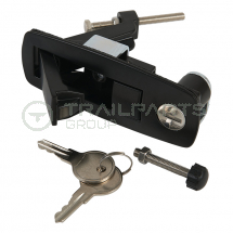 Cabinet latch 1-25mm grip rang 2 keys 41W x 106H curved side