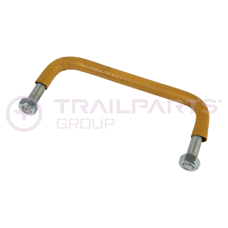 Ramp tailgate lifting handle for Brian James trailer