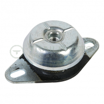 Anti-vibration mount steel top M12 female 2x85mm fixing base