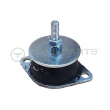 Anti-vibration mount steel top M6x25 male 2x52mm fixing base