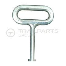 Cabinet latch double bit drive key only