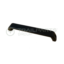 Black coated aluminium pull handle 238mm fixing centres
