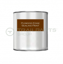 Exterior acrylic flooring edge sealing paint dark brown 250ml
