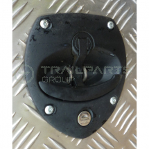 Shield shaped T handle cabinet latch 130 x 120mm adjustable