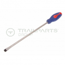 Soft grip slotted screwdriver 12mm x 300mm