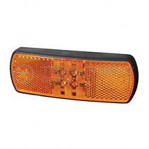 Side marker lamp 12/24V LED amber with reflex reflector