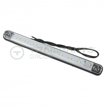 Interior strip lamp 12V 8 LED integral PIR 235 x 20 x 14mm