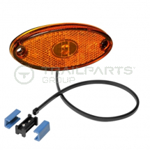 Aspoeck Flatpoint II side marker lamp 12V LED 0.5m cable