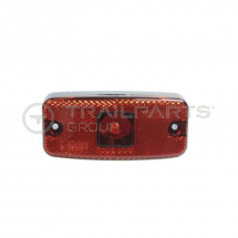 Marker lamp rear 12/24V LED red c/w reflector