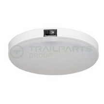 Interior lamp 12V LED switched 145mm dia