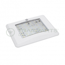 12V LED interior slimline lamp c/w PIR & white surround