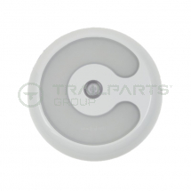 Interior lamp 10-30V LED 130mm circular c/w PIR switch