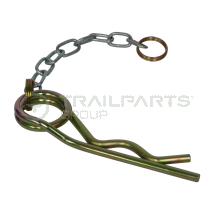 Jockey safety clip and chain