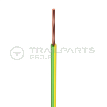 Single core cable 1.5mm x 100m yellow/green ST91X