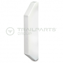 Dado trunking chamfered end cap 170 x 50mm