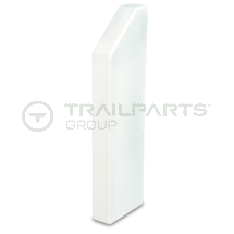 Dado skirting trunking chamfer R hand end cap 170 x 50mm