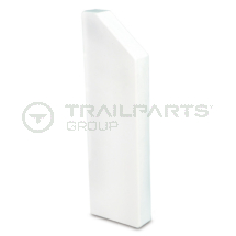 Dado skirting trunking chamfer L hand end cap 170 x 50mm