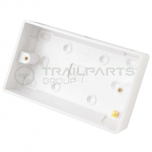 Surface mount pattress box double 35mm
