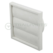 Wall outlet gravity flap white 100mm