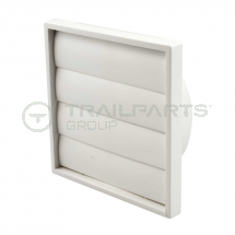 Wall outlet gravity flap white 150mm