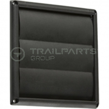 Wall outlet gravity flap black 150mm