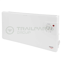 Wall mounted panel heater 240V 1000W c/w thermostat & timer