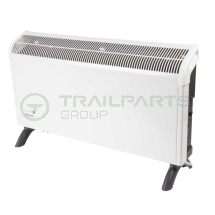 Wall/floor mounted convector heater 3kW c/w themostat