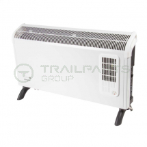 Wall/floor mounted convector heater 3kW themostat & timer