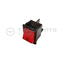 Illuminated red ON/OFF switch large for plinth heater