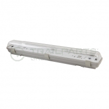 Weatherproof fluorescent lamp single 2' 18W IP65 (no tube)